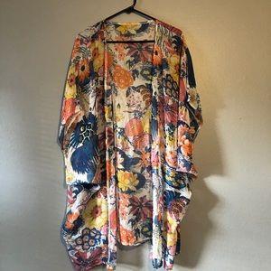 NWOT Floral Kimono